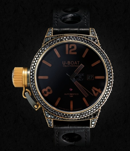 Black Swan —— U-Boat Precious Fake Watches UK With Black Dials At Low Price